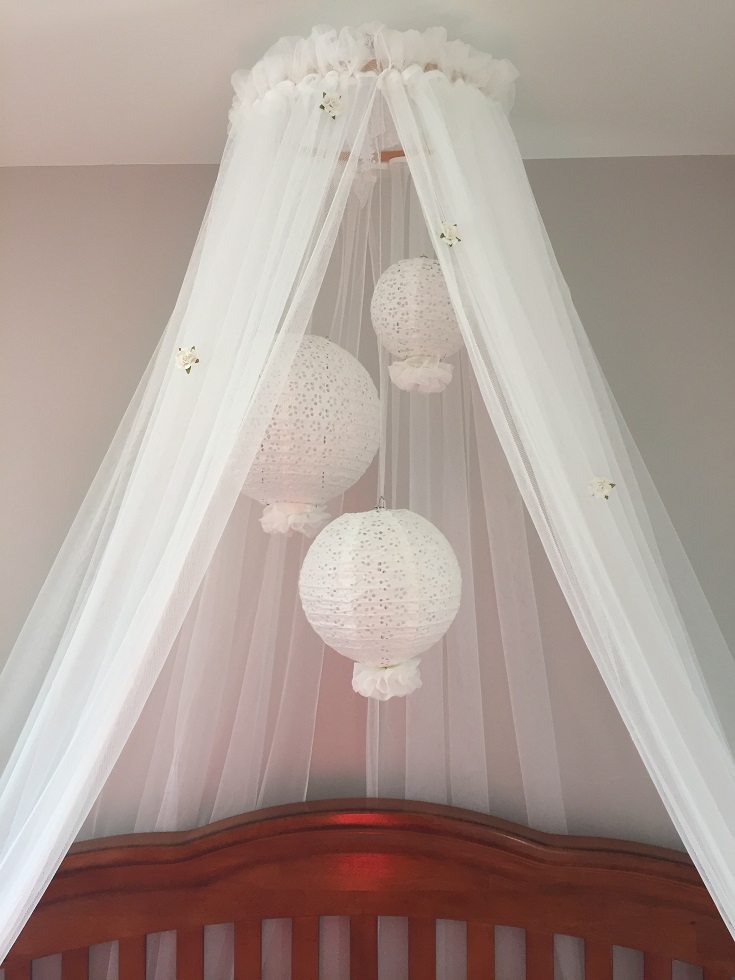 For now the furniture is set up and the crib has a canopy hung above it which doubles as a u201cmobileu201d for baby to look at. & our little oneu0027s crib canopy/mobile |